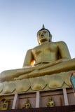 Buddha grande de oro Imágenes de archivo libres de regalías