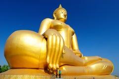 Buddha grande dourado Imagem de Stock Royalty Free