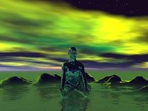 Buddha green Stock Image