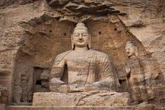 buddha grottawhite Arkivbilder