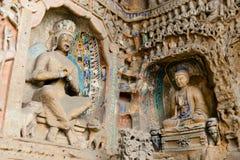 buddha grottoes Royaltyfri Bild