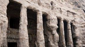 buddha grottoes Royaltyfri Fotografi