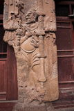 Buddha Grottoes in Tianshui Maijishan seven temples on the door Royalty Free Stock Photo