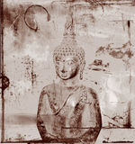 Buddha on grungy background. Sepia tone Buddha on grungy background Stock Photos