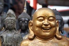 buddha gruppstatyer Royaltyfri Bild