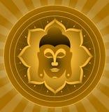 buddha gud vektor illustrationer