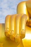 buddha guld- handstaty Royaltyfri Foto