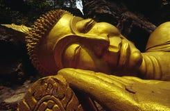 buddha guld- laos luangprabang Fotografering för Bildbyråer