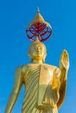 buddha guld- standing Royaltyfri Foto
