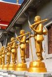 buddha guld- staty arkivfoto