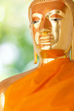 Buddha guld- staty. Arkivfoton