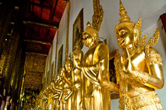 buddha guld- staty Arkivbilder
