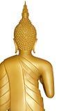 Buddha guld- staty på vit Fotografering för Bildbyråer