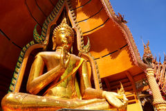 buddha guld- stort Fotografering för Bildbyråer