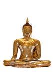 buddha guldisolate rena thailand Arkivfoto