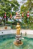 buddha guldstaty Fotografering för Bildbyråer