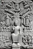 buddha hög lättnad Royaltyfri Fotografi