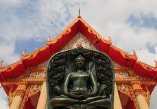 Buddha ha fatto da giada Fotografia Stock