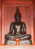 Buddha ha fatto di giada fotografie stock