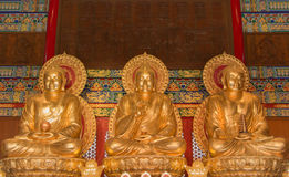 Buddha in the hall for worship. Buddha in the hall for worship Royalty Free Stock Photo