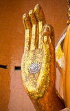Buddha hand. Golden Buddha hand. That represent to Peaceful and Patience Royalty Free Stock Photography