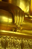 Buddha Hand. Buddh image hand with gold color in Thailand Royalty Free Stock Photo