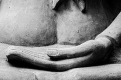 Buddha Hand and Buddha Statue at Ayutthaya city. Thailand Stock Photos