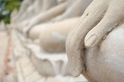 Buddha Hand and Buddha Statue at Ayutthaya city. Thailand Royalty Free Stock Images