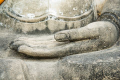 Buddha hand. Buddhism in Ayutthaya thailand Stock Photography