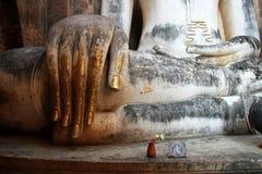Buddha hand, sukhothai Stock Photography