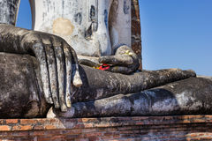 Buddha hand in a temple,Sukhothai,Thailand Stock Photography