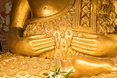Buddha hand. From thai temple Stock Images