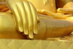 Buddha hand in Thai temple Royalty Free Stock Images