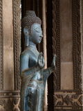 Buddha and hands in Laos Royalty Free Stock Images