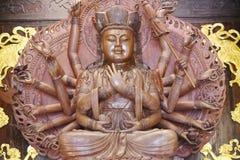 buddha hands staty tusen arkivbild