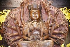 buddha hands staty tusen royaltyfri foto