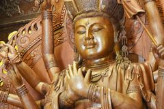 buddha hands staty tusen royaltyfri bild
