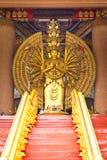 buddha hands staty tusen Arkivfoto