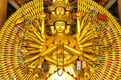 buddha hands statyn tio tusen Royaltyfria Foton