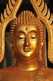 Buddha-Hauptmessingaura Lizenzfreie Stockfotos