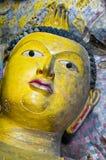 Buddha head. Photo of a Buddha head in Dambulla, Sri Lanka Stock Photos