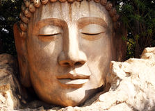 Buddha Head. In Ramoji Film City royalty free stock photos