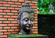 Buddha head ancient statue sacred Stock Images