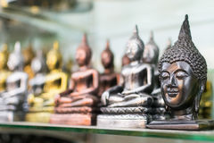 Buddha head. From cast metal as souvenirs Royalty Free Stock Photography