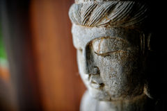 Buddha head. Close-up on a buddha head statue Stock Photo