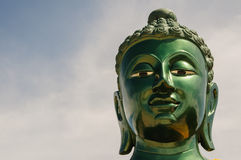 Buddha head. Front view of Buddha's head Royalty Free Stock Photography