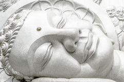 Buddha. The head of a giant sleeping Buddha Stock Photos