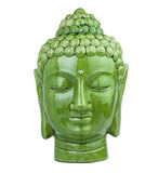 Buddha head green Royalty Free Stock Photos
