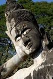 buddha head laos reclining vientiane Royaltyfri Fotografi