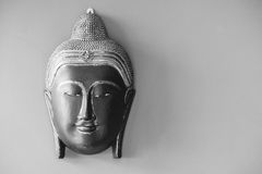 Buddha head mock for decorate home Stock Photography